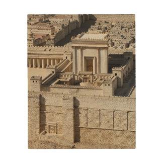 Deuxième modèle de temple, Jérusalem Impression Sur Bois