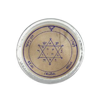 Deuxième pentagramme de Jupiter Bague Avec Photo