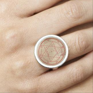 Deuxième pentagramme de Mars Bagues Avec Photo