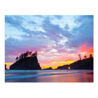 Deuxième plage au coucher du soleil, Washington Carte Postale