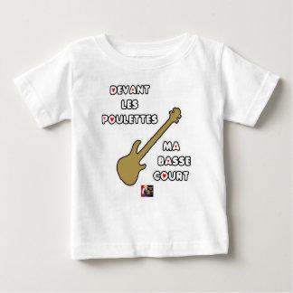 Devant les POULETTES ma BASSE COURT T-shirt Pour Bébé