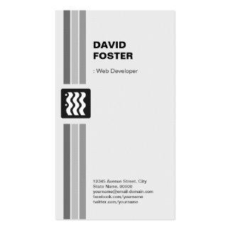 Développeur web - blanc noir moderne carte de visite standard