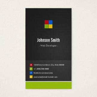 Développeur web - coloré créatif de la meilleure cartes de visite
