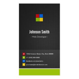 Développeur web - coloré créatif de la meilleure q modèle de carte de visite