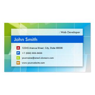 Développeur web - universel moderne carte de visite standard