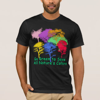 Devenez écolo pour sauver les couleurs de toute la t-shirt