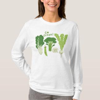 Devenez écolo ! (Vert feuillu !) légume heureux de T-shirt