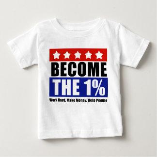 Deviennent les un pour cent, Anti-Occupent Wall T-shirt Pour Bébé