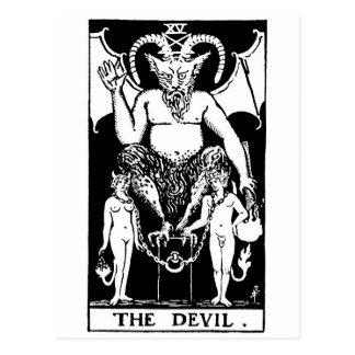 Devil de tarot ' carte postale
