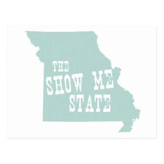 Devise de slogan d'état du Missouri Cartes Postales