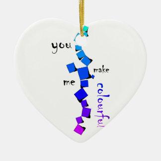 Devolissium - cubes tombés avec le texte ornement cœur en céramique