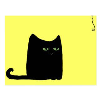 Dexter la grosse carte postale de chat noir