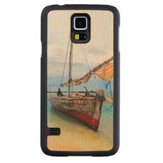 Dhaw traditionnel, Zanzibar, Tanzanie Coque Slim Galaxy S5 En Érable