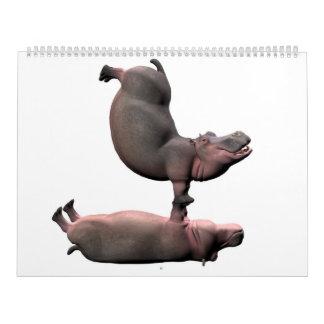 D'hippopotames étranges 2017 calendrier mural