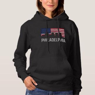 Di de drapeau américain d'horizon de Philadelphie Pull À Capuche