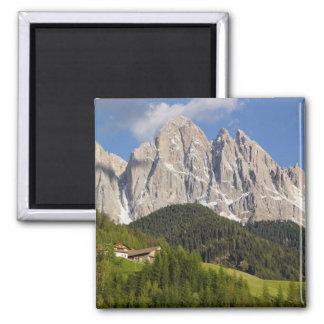 Di Funes, Villnosstal, dolomites, Italie de Val Magnet Carré