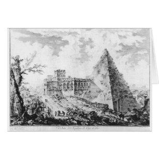 Di Roma de Vedute par Giovanni Battista Piranesi Carte De Vœux
