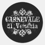Di Venezia de Carnevale Adhésif Rond