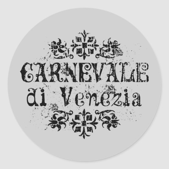 Di Venezia de Carnevale Sticker Rond
