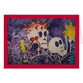 Dia de los Muertos Christmas Poins… - Customisé Carte De Vœux
