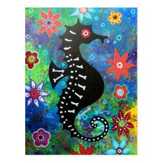 Dia de los Muertos Seahorse Carte Postale