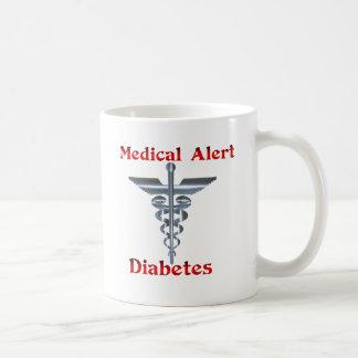 Diabète Rod argenté vigilant médical et serpents Mug