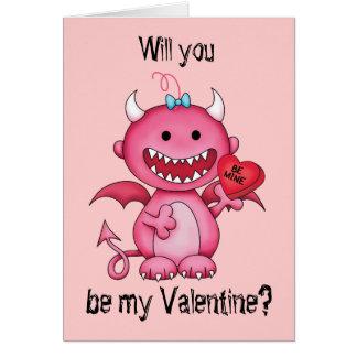 Diable de fille de Valentine Carte De Vœux