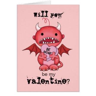 Diable de garçon de Valentine Carte De Vœux