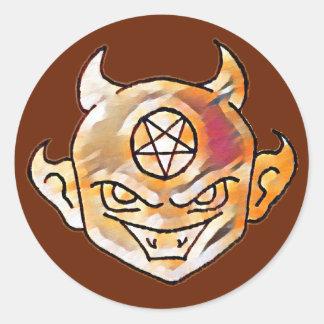 Diable de Lil Sticker Rond