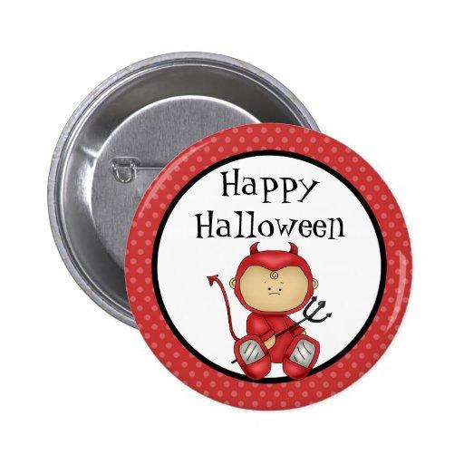 Diable heureux de bébé de Halloween Badge Avec Épingle