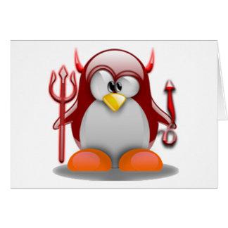 Diable Tux (Linux Tux) Carte De Vœux