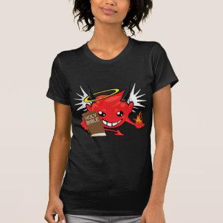 diable/visage smiley d'ange t-shirts