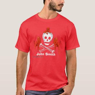 Diables et crâne t-shirt