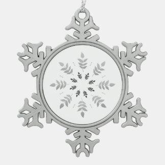 Diadème élégant argenté ornement flocon de neige pewter