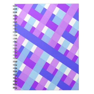 diagonale géométrique de guingan de plaid carnets