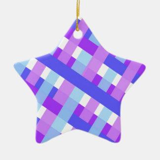 diagonale géométrique de guingan de plaid ornement étoile en céramique