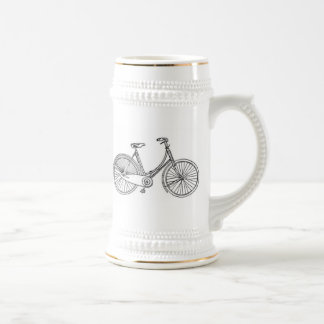 Diagramme américain vintage de bicyclette tasse à café