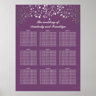 Diagramme d'allocation des places de mariage de posters