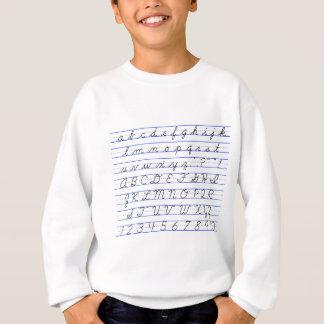 Diagramme d'alphabet anglais en écriture cursive sweatshirt