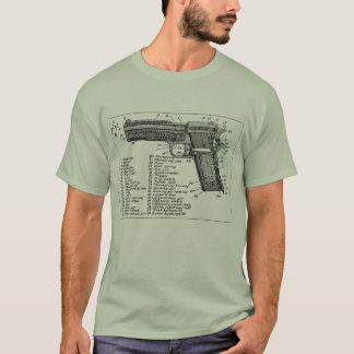 Diagramme d'arme à feu t-shirt