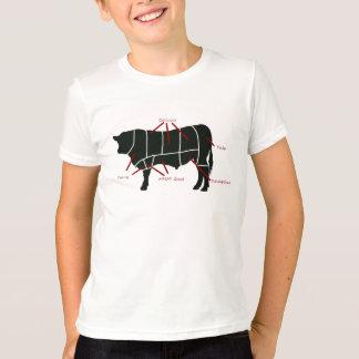 Diagramme de boucher de boeuf - boeuf délicieux t-shirt
