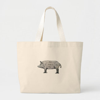 Diagramme de porc grand sac