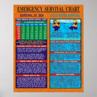 Diagramme de survie de secours posters