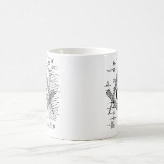 Diagramme des degrés maçonniques mug