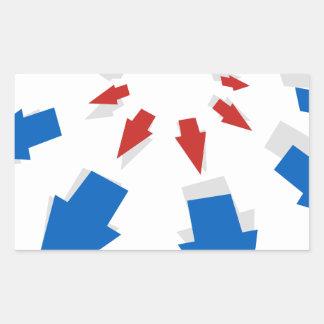 Diagramme d'icône de flèche de croissance sticker rectangulaire