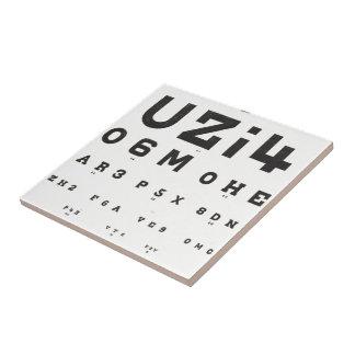 Diagramme d'oeil vintage petit carreau carré