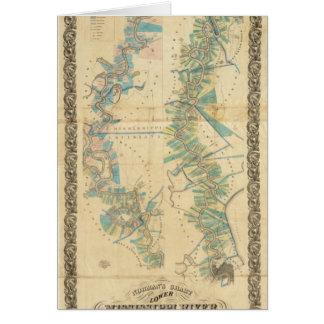 Diagramme du fleuve Mississippi inférieur Carte De Vœux