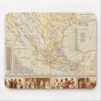 Diagramme ethnographique du Mexique Tapis De Souris