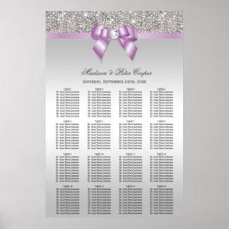 Diagramme lilas d'allocation des places de mariage posters