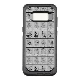 Diagramme LOONEY d'émotion de caractère de TUNES™ Coque Samsung Galaxy S8 Par OtterBox Commuter